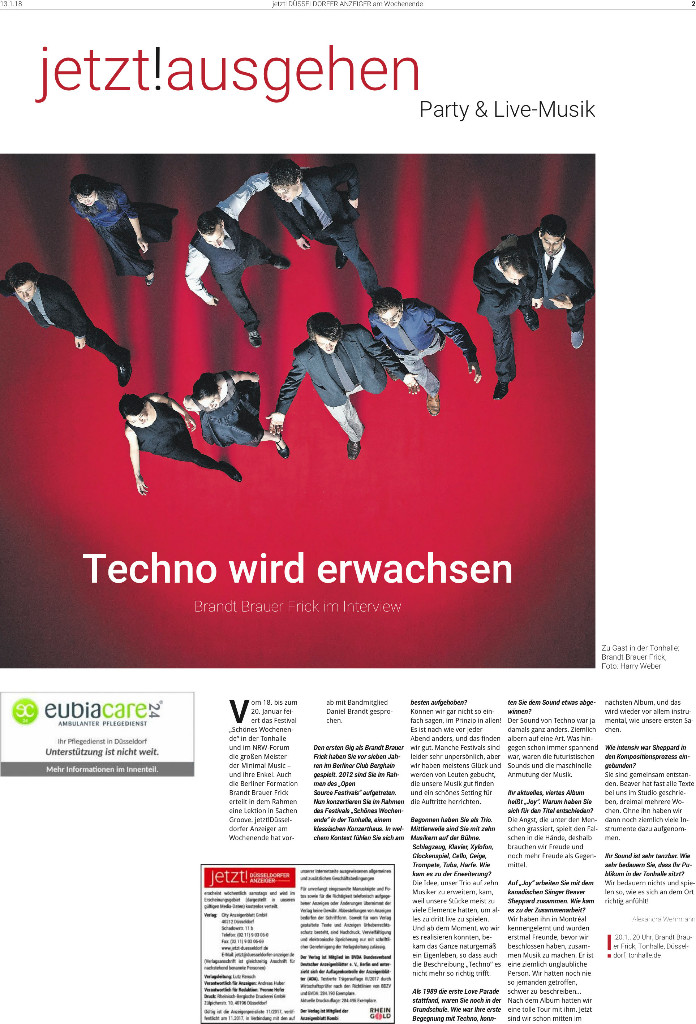 """Titelseite des Anzeigenblatts """"jetzt!"""""""